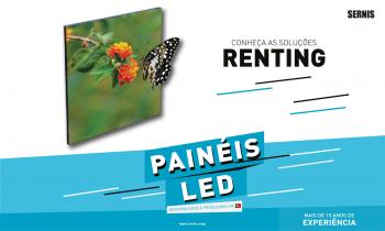 Painéis LED por menos de 3€ p/dia - Solução Renting