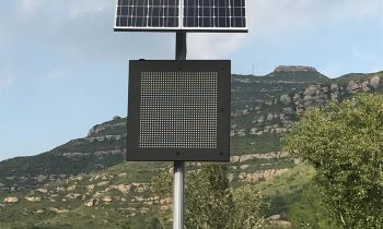 SERNIS installs electronic displays that activates only when it rains